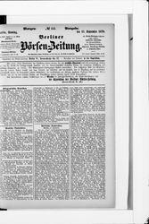 Berliner Börsenzeitung (22.09.1878)