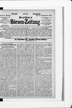 Berliner Börsen-Zeitung vom 23.09.1878