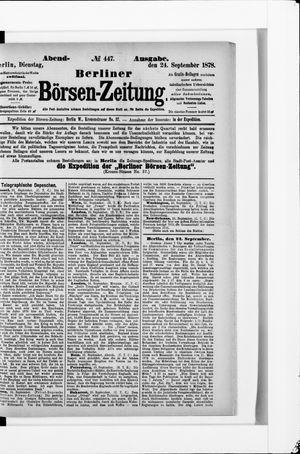 Berliner Börsen-Zeitung vom 24.09.1878
