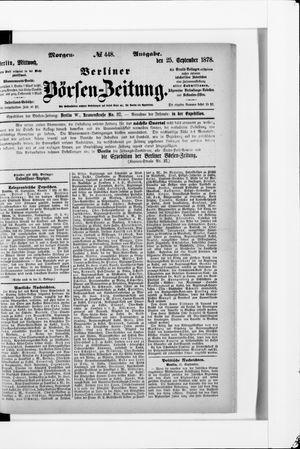 Berliner Börsen-Zeitung vom 25.09.1878