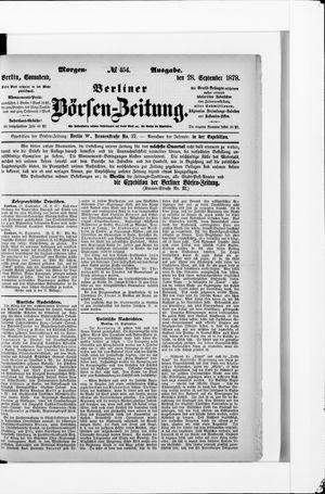 Berliner Börsen-Zeitung vom 28.09.1878