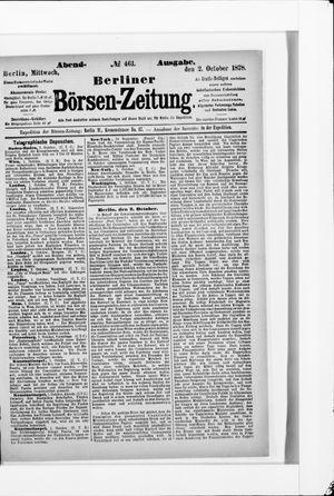 Berliner Börsen-Zeitung vom 02.10.1878