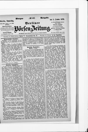 Berliner Börsen-Zeitung vom 03.10.1878