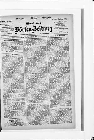Berliner Börsen-Zeitung vom 04.10.1878