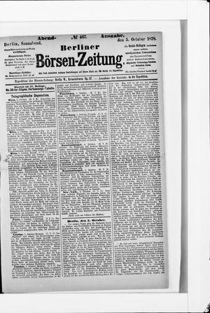 Berliner Börsen-Zeitung vom 05.10.1878