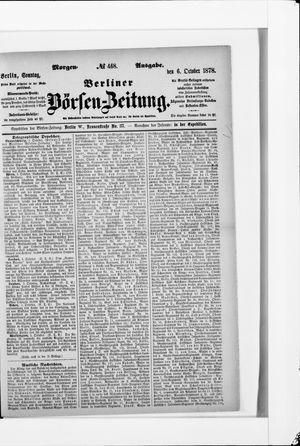 Berliner Börsen-Zeitung vom 06.10.1878