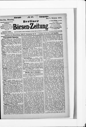 Berliner Börsen-Zeitung vom 08.10.1878