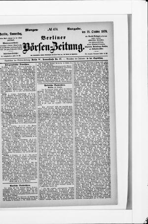 Berliner Börsen-Zeitung vom 10.10.1878