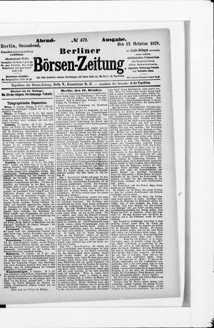 Berliner Börsen-Zeitung on Oct 12, 1878