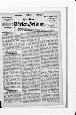 Berliner Börsen-Zeitung vom 13.10.1878