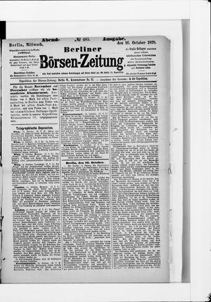 Berliner Börsen-Zeitung vom 16.10.1878