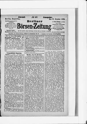 Berliner Börsen-Zeitung vom 17.10.1878