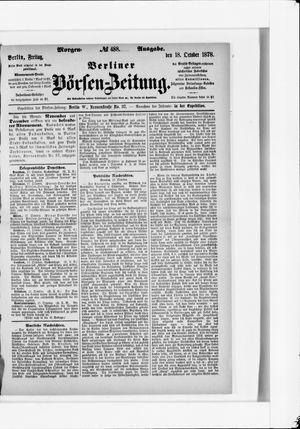 Berliner Börsen-Zeitung vom 18.10.1878