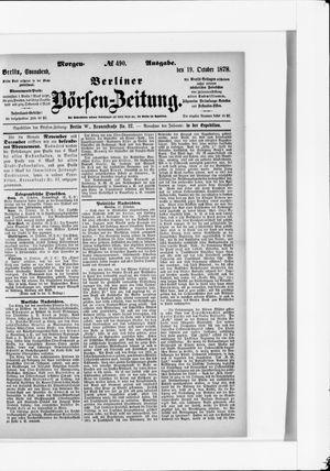 Berliner Börsen-Zeitung vom 19.10.1878