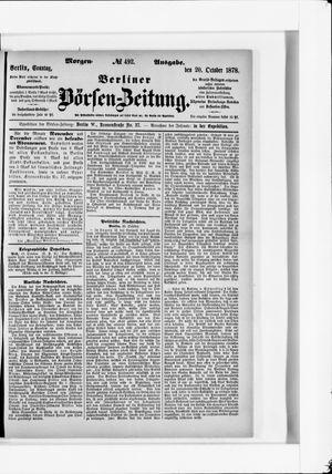 Berliner Börsen-Zeitung vom 20.10.1878