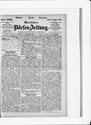 Berliner Börsen-Zeitung vom 23.10.1878