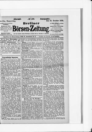 Berliner Börsen-Zeitung vom 24.10.1878