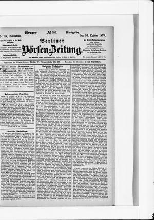 Berliner Börsen-Zeitung vom 26.10.1878
