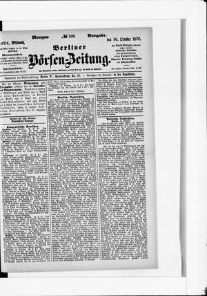 Berliner Börsen-Zeitung vom 30.10.1878