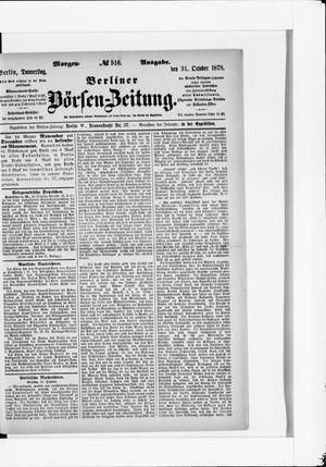 Berliner Börsen-Zeitung on Oct 31, 1878