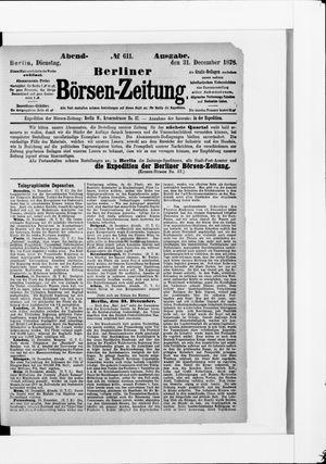 Berliner Börsen-Zeitung vom 31.12.1878