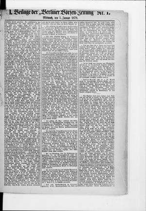 Berliner Börsen-Zeitung vom 01.01.1879