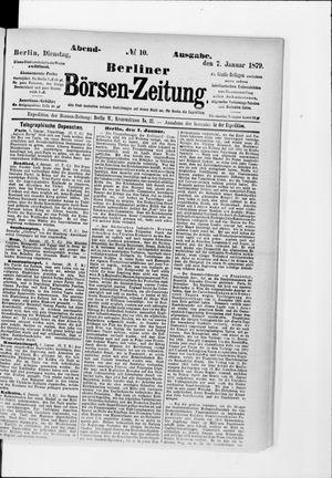 Berliner Börsen-Zeitung vom 07.01.1879