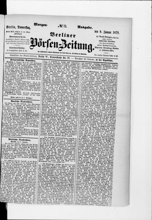 Berliner Börsen-Zeitung vom 09.01.1879