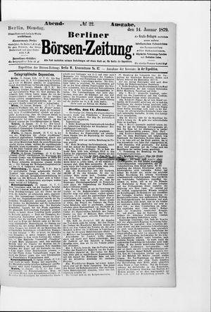 Berliner Börsen-Zeitung vom 14.01.1879