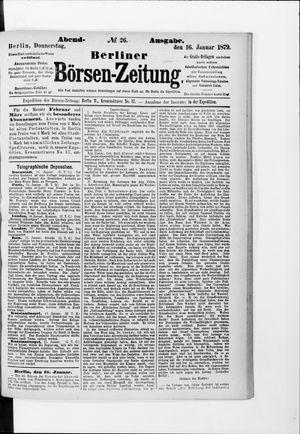 Berliner Börsen-Zeitung vom 16.01.1879