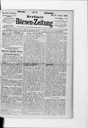 Berliner Börsen-Zeitung vom 17.01.1879
