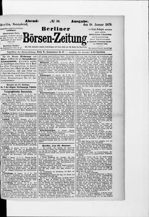 Berliner Börsen-Zeitung vom 18.01.1879
