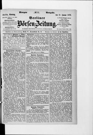 Berliner Börsen-Zeitung vom 19.01.1879