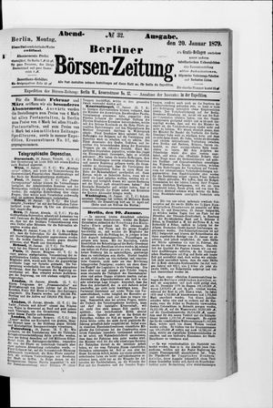 Berliner Börsen-Zeitung vom 20.01.1879