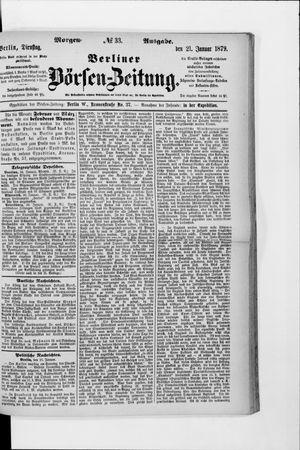 Berliner Börsen-Zeitung vom 21.01.1879