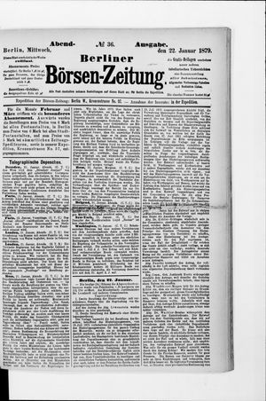 Berliner Börsen-Zeitung vom 22.01.1879