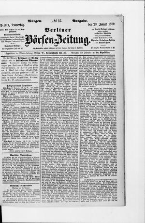 Berliner Börsen-Zeitung vom 23.01.1879