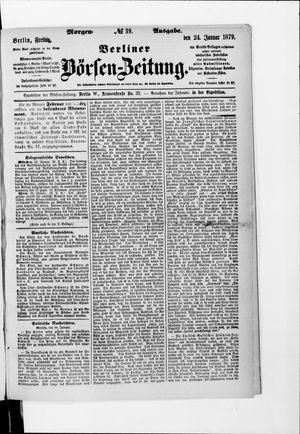 Berliner Börsen-Zeitung vom 24.01.1879