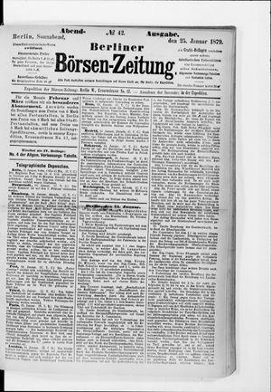 Berliner Börsen-Zeitung vom 25.01.1879