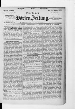 Berliner Börsen-Zeitung vom 26.01.1879