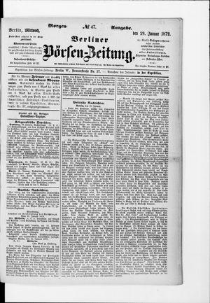 Berliner Börsen-Zeitung vom 29.01.1879