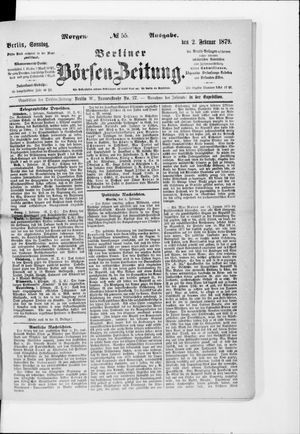 Berliner Börsen-Zeitung on Feb 2, 1879
