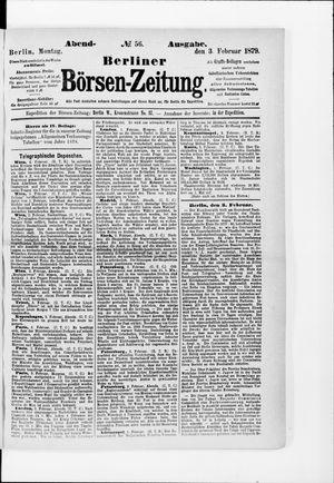 Berliner Börsen-Zeitung on Feb 3, 1879