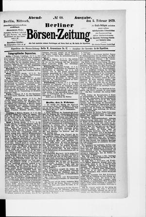 Berliner Börsen-Zeitung vom 05.02.1879