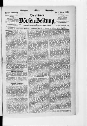 Berliner Börsen-Zeitung vom 06.02.1879