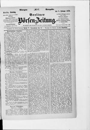 Berliner Börsen-Zeitung vom 09.02.1879