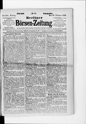Berliner Börsen-Zeitung vom 10.02.1879