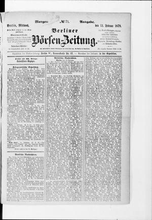 Berliner Börsen-Zeitung vom 12.02.1879
