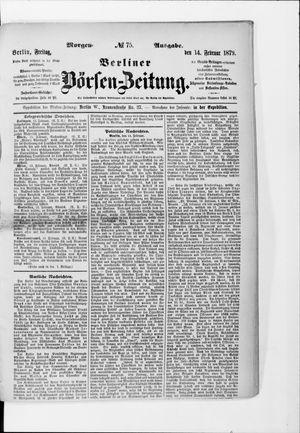 Berliner Börsen-Zeitung vom 14.02.1879