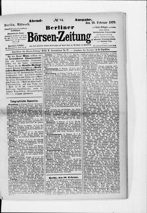 Berliner Börsen-Zeitung on Feb 19, 1879